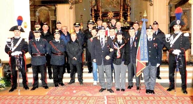 crescentino carabinieri al termine della celebrazione