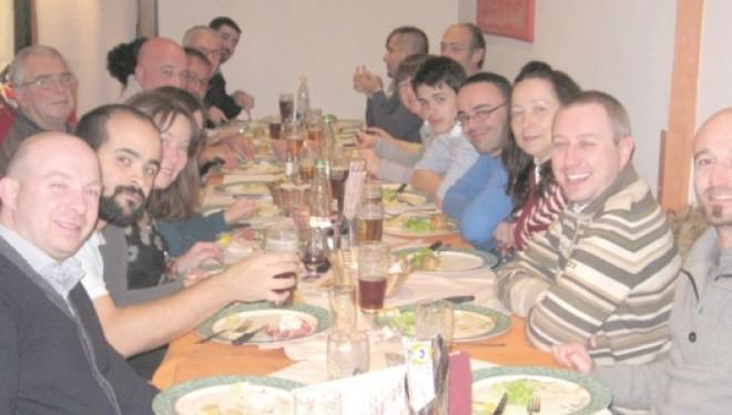 CRESCENTINO: La cena dello Sci Club Praiet