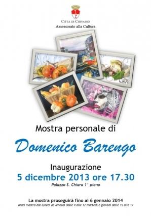 mostra personale di Domenico Barengo a Chivasso