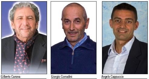 Gilberto Canova, Giorgio Corradini, Angelo Cappuccio