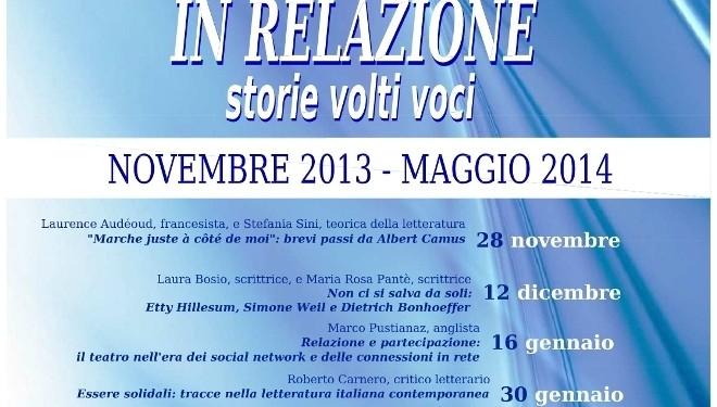 Giovedì 30 gennaio – Vercelli: all'Università c'è Roberto Carnero