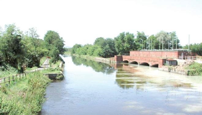 punto di confluenza del Sussidiario nel Canale Cavour