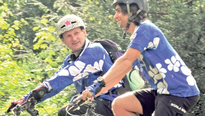 MAGLIONE: Io e la mia Mountainbike con Peterlin e Ruffino