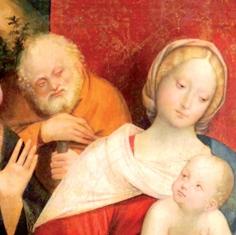 Un particolare dell'Adorazione dei Magi di Gerolamo Giovenone, 1515 circa