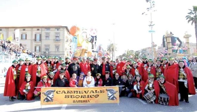 Domenica 16 febbraio: I santhiatesi a Viareggio per il 1° Corso Mascherato Sul palco d'onore verrà servita la Fagiolata