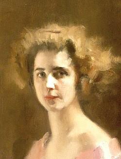 Ambrogio Alciati, Dama in rosa, particolare
