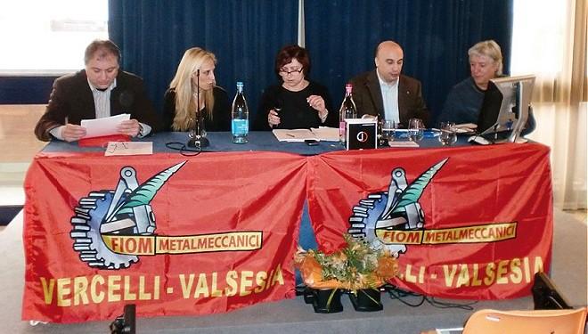 I metalmeccanici della Fiom a congresso a Gattinara