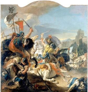 Giovanni Battista Tiepolo, Battaglia di Vercelli, 1725-29