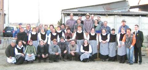 I runchin con abiti contadini di un tempo