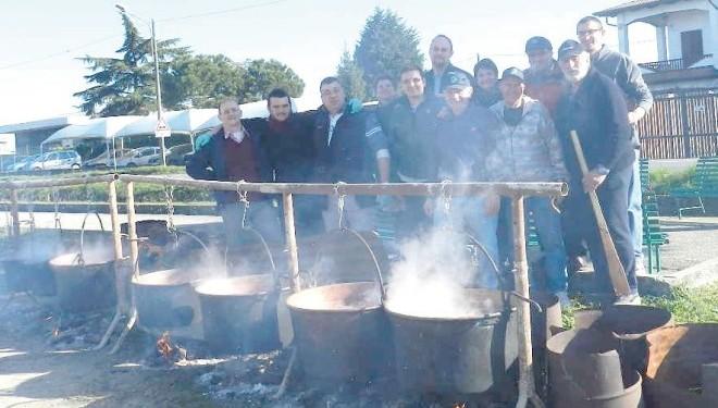 LAMPORO: La fagiolata con I Baldi sabato scorso in piazza Deva