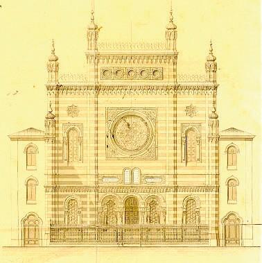 Il progetto della sinagoga di Vercelli