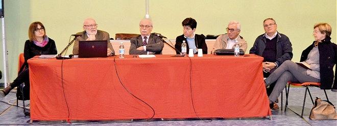 """sindaco Barberis con il gruppo di """"Insieme per la nostra gente"""" e l'architetto Toselli"""