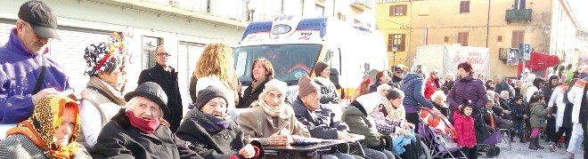 anziani di Santhià al Carnevale