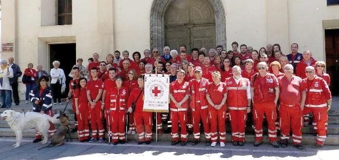 volontari della Croce Rossa a Crescentino