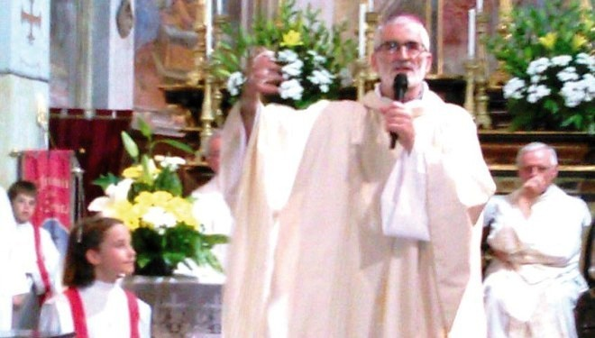 Bianzè: Il vescovo ha celebrato messa nella chiesa della SS. Trinità