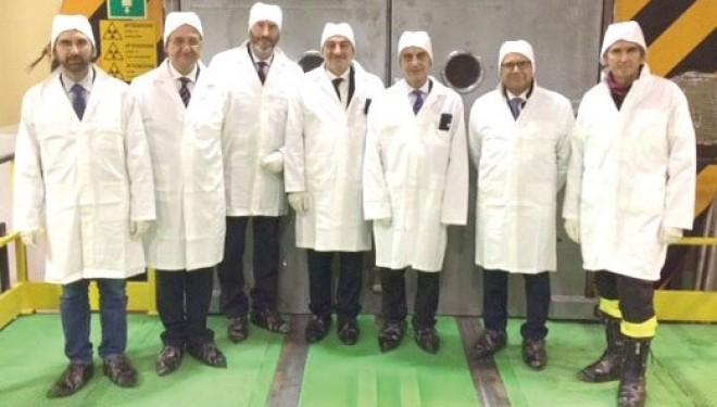 """Il sottosegretario all'interno Gianpiero Bocci visita la centrale nucleare """"Fermi"""""""